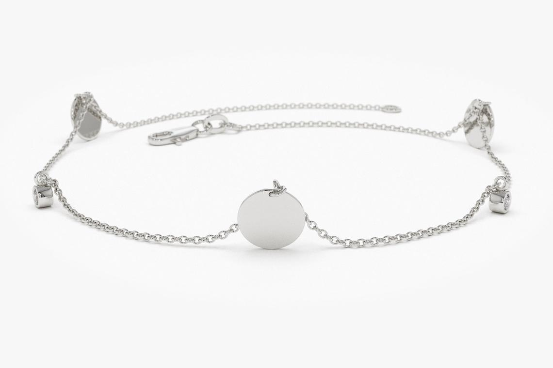 Diamant Armband MELISSA I 585er Weißgold 0,08 Karat