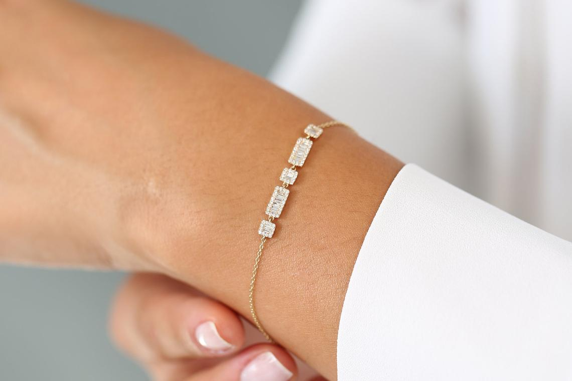 Diamant Armband VIOLA I 585er Gold 0,60 Karat