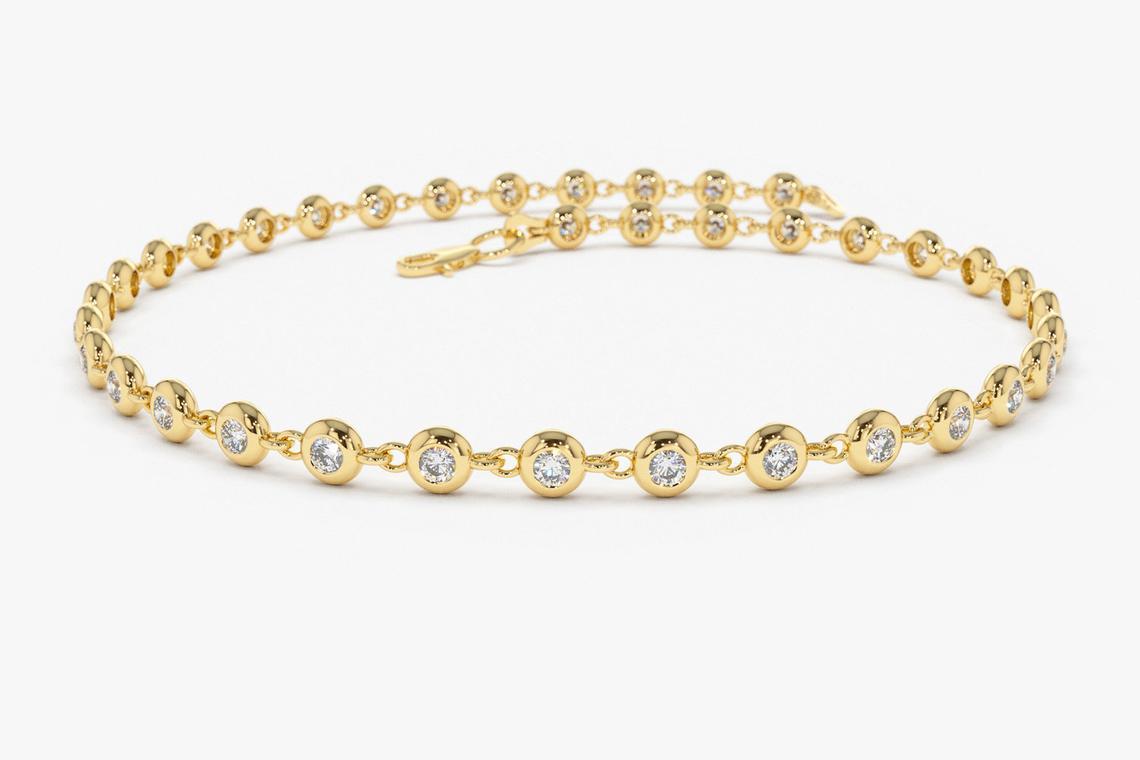 "Diamant Armband ALESSENDRA I 585er Weißgold 0,60 Karat"""