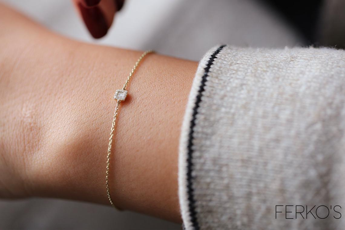 Diamant Armband BIANCA I 585er Gold 0,10 Karat