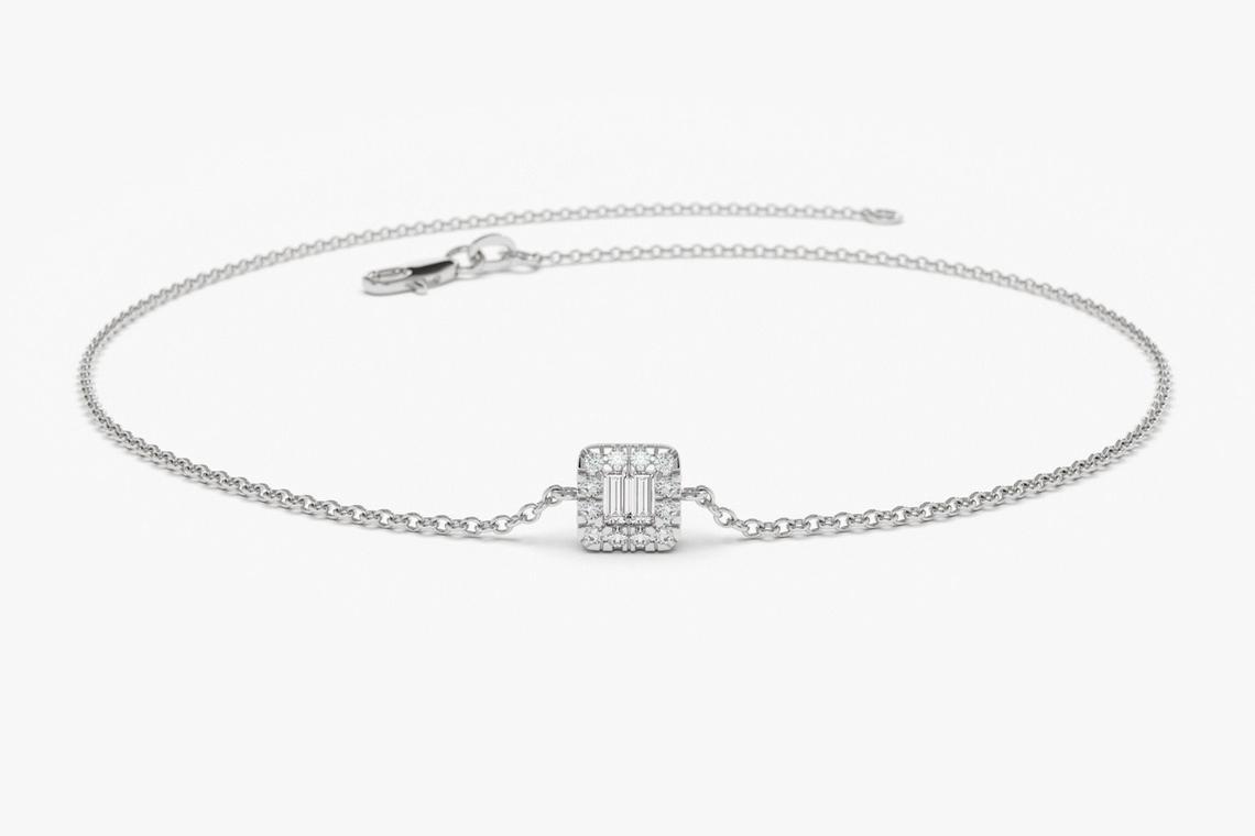 Diamant Armband BIANCA I 585er RoseGold 0,10 Karat