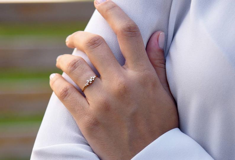 Diamant Ring AURÉLIA I 585er Weißgold ca. 0,24 Carat