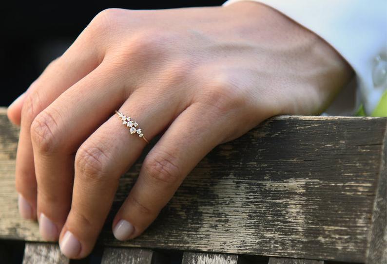 Diamant Ring AURÉLIA I 585er Roségold ca. 0,24 Carat