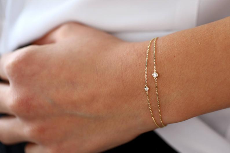 Diamant Armband NIARA I 585er Gold 0,05 Karat