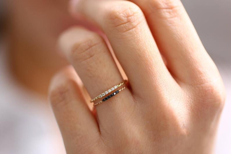 Diamant Ring NINA I 585er Roségold 0,05 Karat