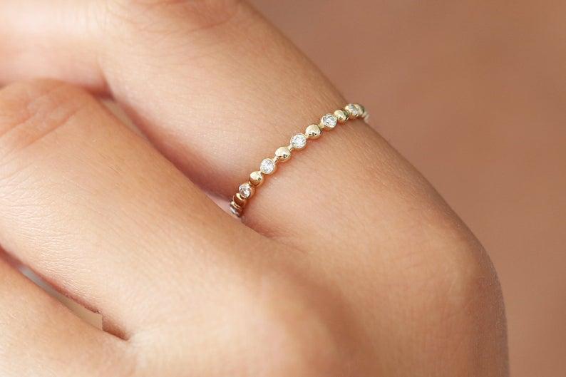 Diamant Ring VALENTINA I 585er Weißgold 0,08 Karat