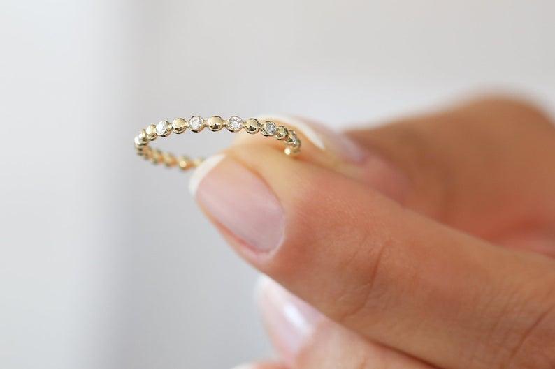Diamant Ring VALENTINA I 585er Roségold 0,08 Karat