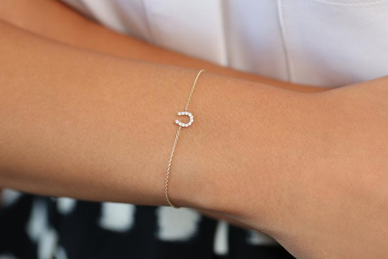 Diamant Armband LUNA I 585er Weißgold 0,08 Karat
