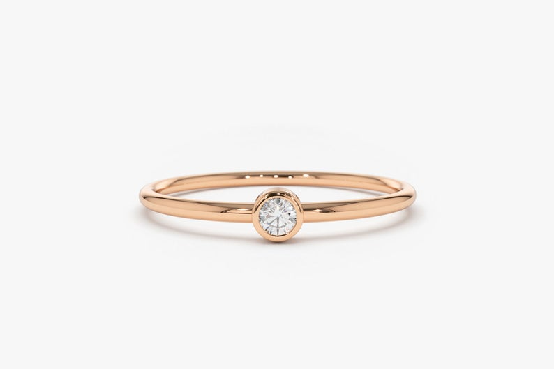 Diamant Ring NICOLETTE I 585er Roségold 0,06 Karat
