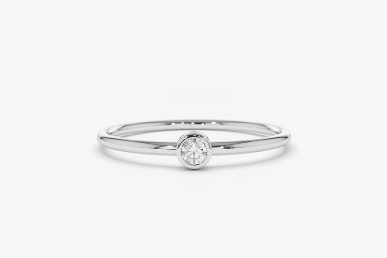 Diamant Ring NICOLETTE I 585er Weißgold 0,06 Karat