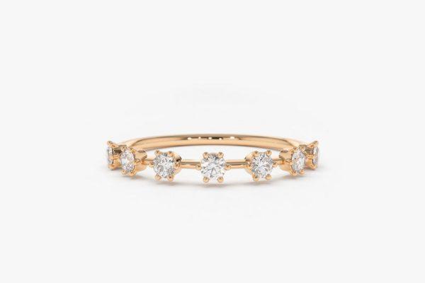 Diamant Ring DIANA I 585er Roségold 0,27 Karat