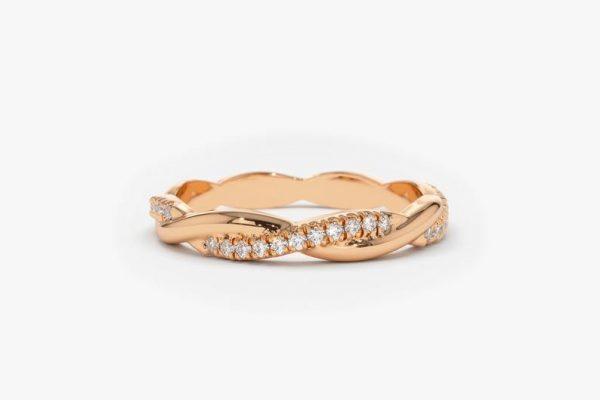 Diamant Ring MAXIMA I 585er Roségold 0,27 Karat