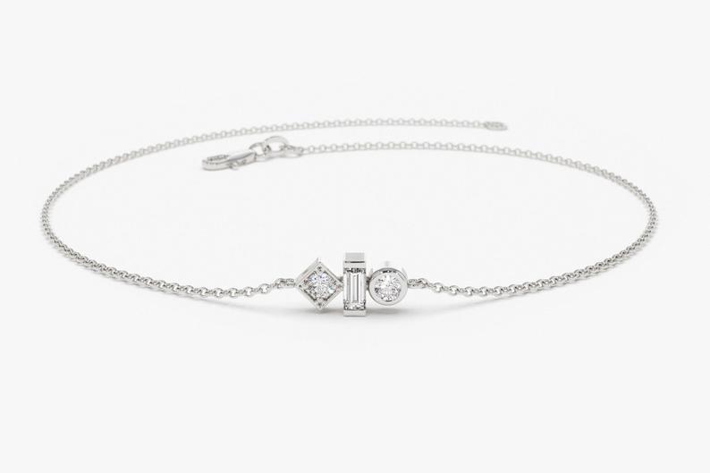 Diamant Armband LUISA I 585er Weißgold 0,10 Karat