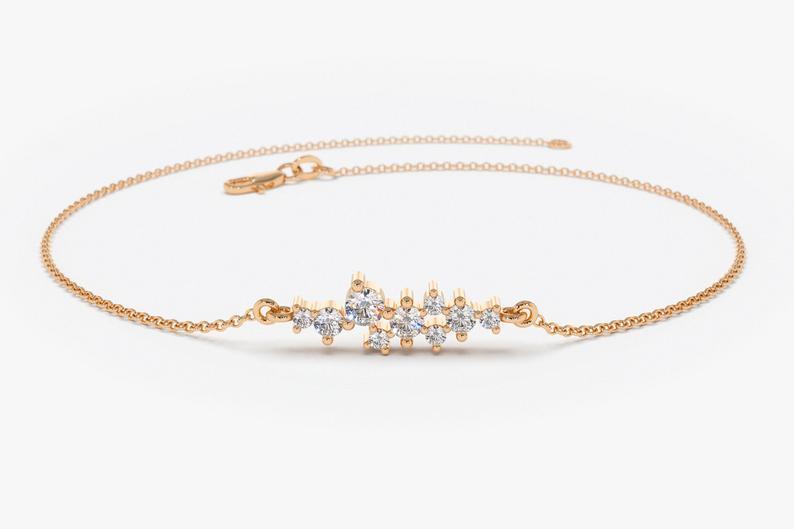 Diamant Armband JOHANA I 585er RoseGold 0,30 Karat