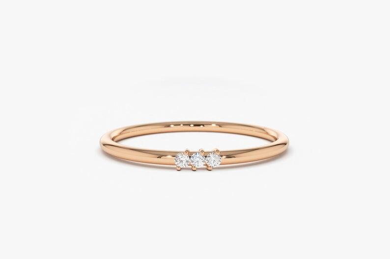 Diamant Ring OLIVIA I 585er Roségold 0,05 Karat