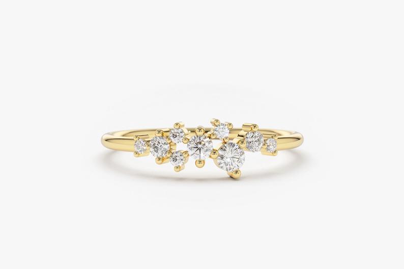 Diamant Ring AURÉLIA I 585er Gold ca. 0,24 Carat