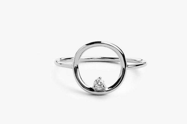 Diamant Ring CIRCLE I 585er Weißgold 0,065 Karat