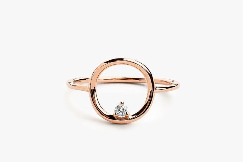 Diamant Ring CIRCLE I 585er Roségold 0,065 Karat