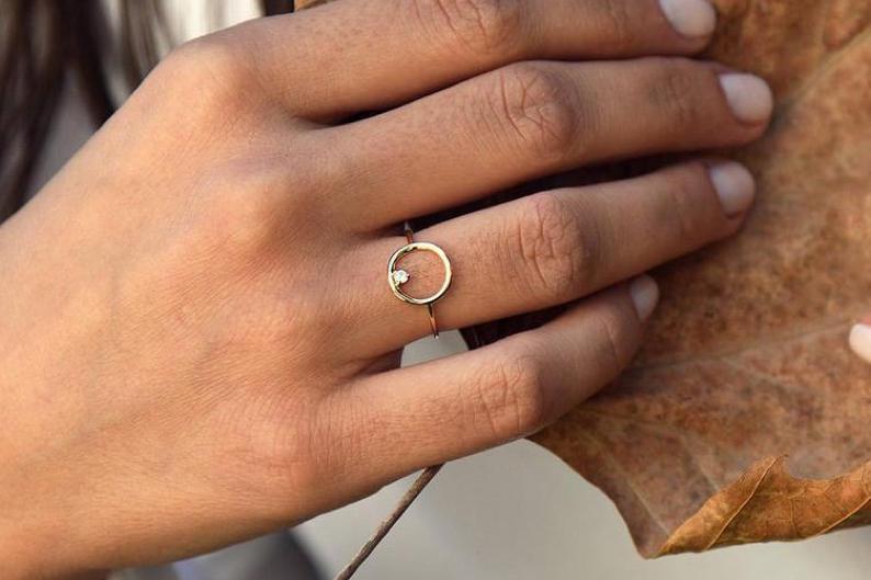 Diamant Ring CIRCLE I 585er Gold 0,065 Karat