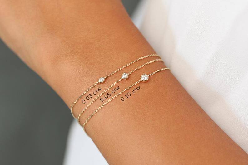 Diamant Armband NIARA I 585er Weißgold 0,05 Karat