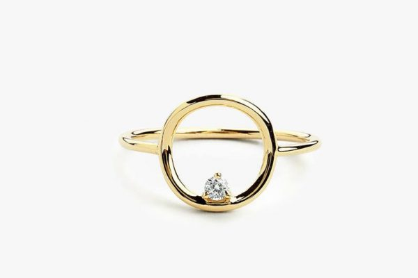 Diamant Ring CIRCLE I 585er Gold 0,065 Karat