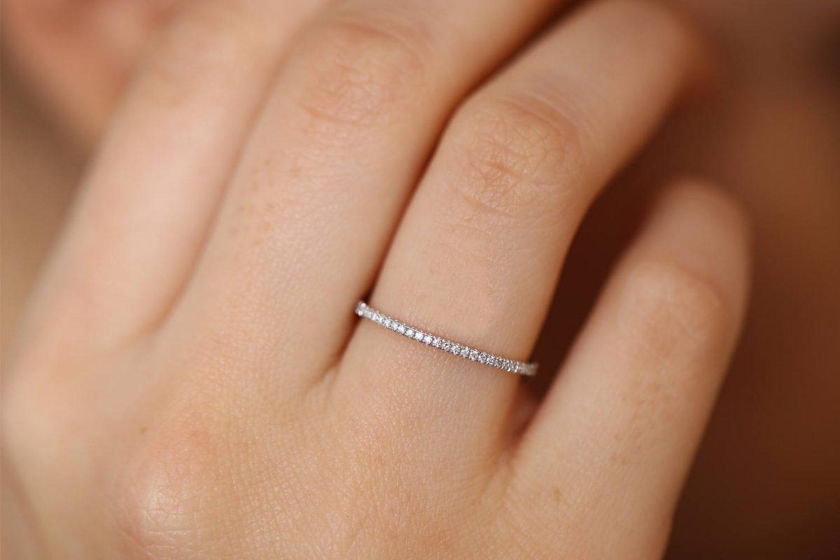 Diamant Ring MEMORY I 585er Roségold 0,30 Carat