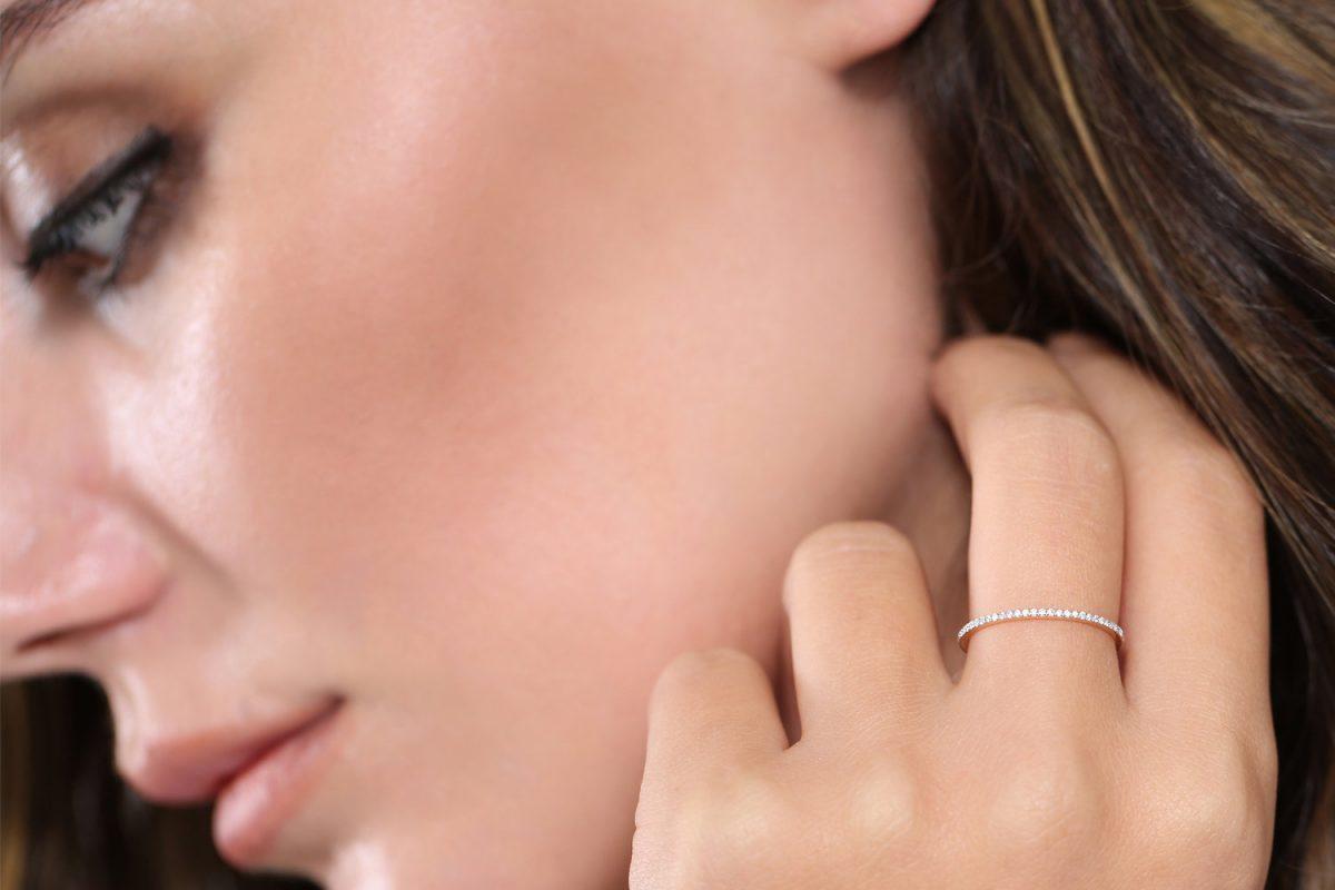 Diamant Ring MEMORY I 585er Weißgold 0,30 Carat