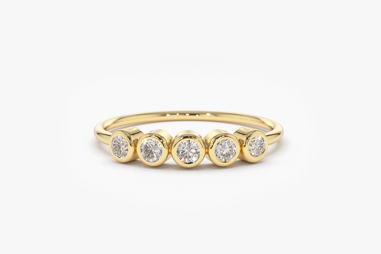 Diamant Ring ALAMA I 585er Roségold 0,14 Karat