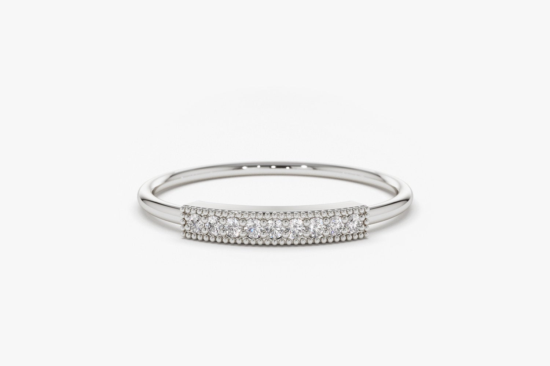 Diamant Ring AVA I 585er Weißgold 0,07 Karat