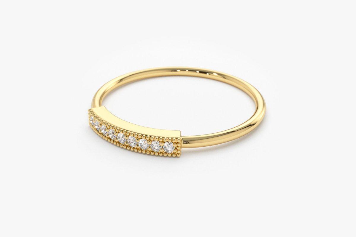 Diamant Ring AVA I 585er Gold 0,07 Karat